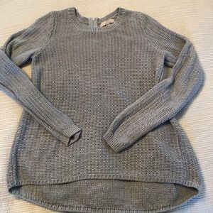 Gray Banana Republic Cotton Ribbed Sweater size M